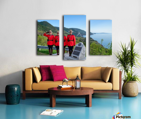 RCMP on French Mountain Canvas print