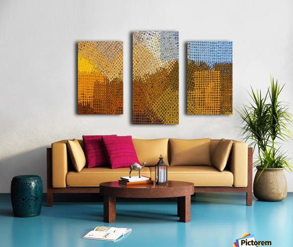 color colors abstract yellow brown Canvas print