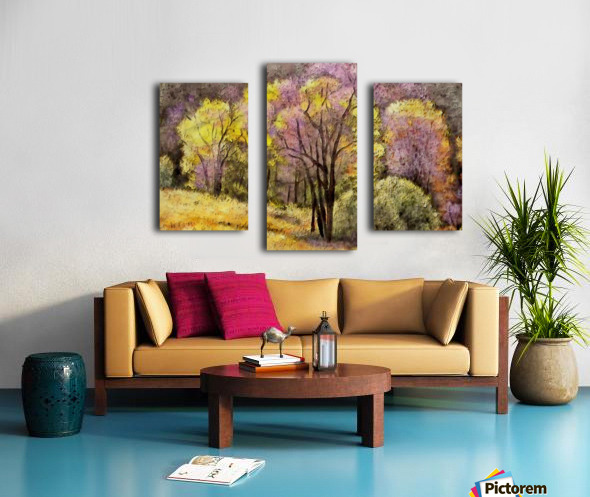 outdoor nature natural woods Canvas print