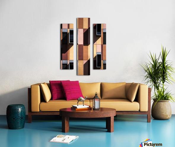 architectural design architecture building colors Canvas print