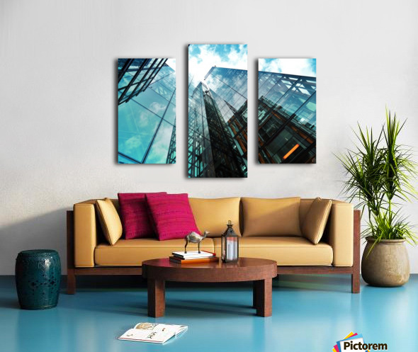 architectural design architecture building business Canvas print