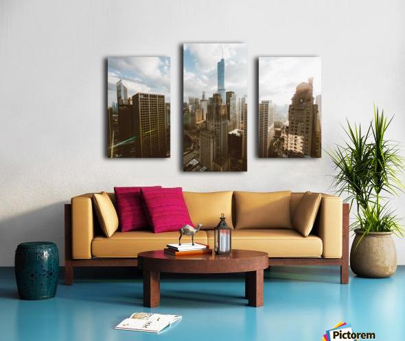 architectural design architecture buildings city Canvas print
