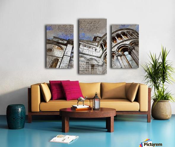 building architecture columns Canvas print