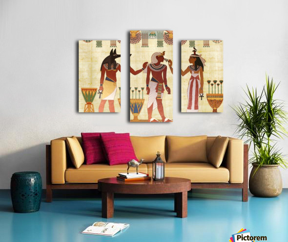 egyptian design man woman priest Canvas print