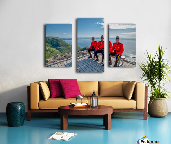 Have a Seat - in Red Serge Canvas print