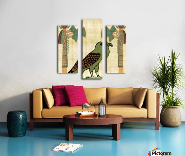 egyptian paper papyrus bird Canvas print