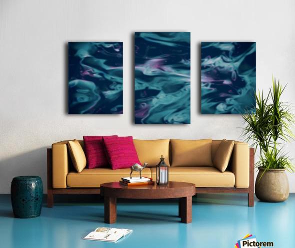 Magic Snake - turquoise blue purple swirls abstract wall art Canvas print