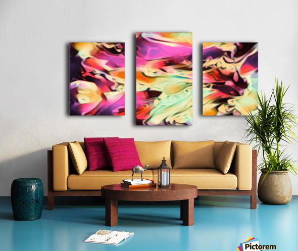 Rising Glow - multicolor swirls abstract wall art Canvas print