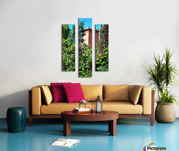 Tower At Jardin Majorelle Marrakech Canvas print