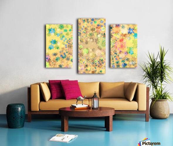 flowers color colorful watercolour Canvas print