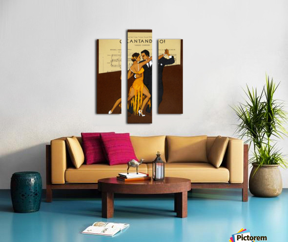 advertisement tango music dance Canvas print