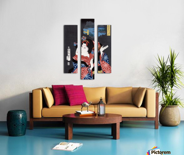 japanese maiden young woman female Canvas print