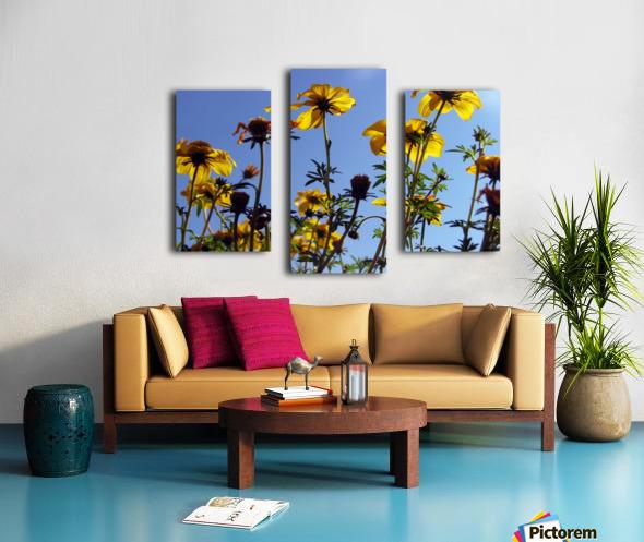 Summer Sky Flowers 1 Canvas print