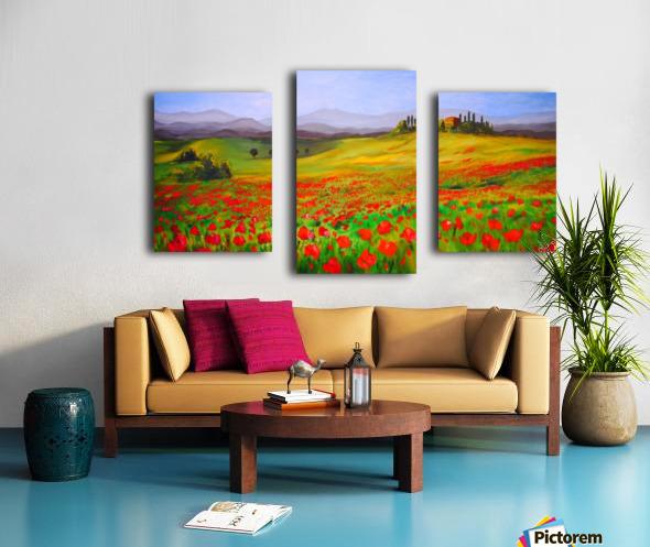 painting art landscape acrylic Canvas print