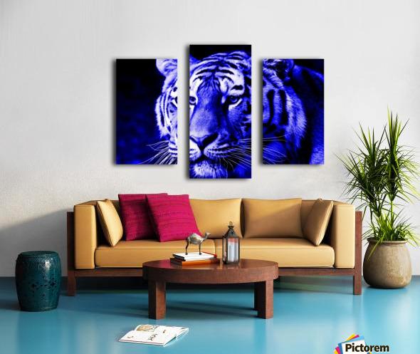 Tiger pop blue Canvas print