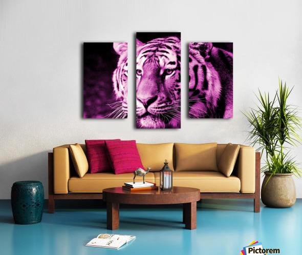 Tiger pop pink Canvas print