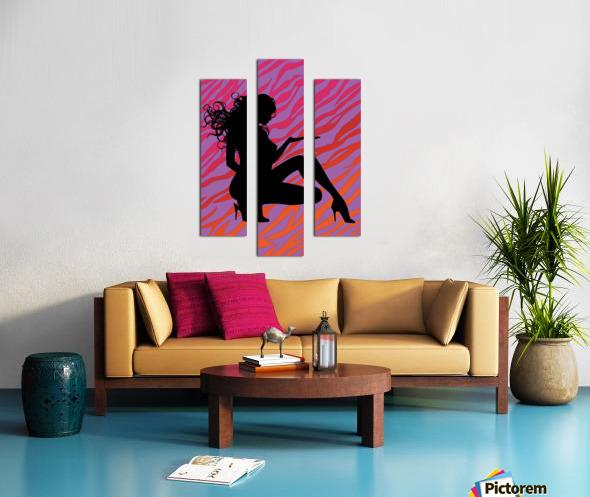 Silhouette 7 Canvas print