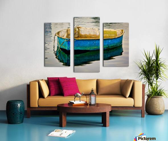 Anchored Boat at Dawn Canvas print
