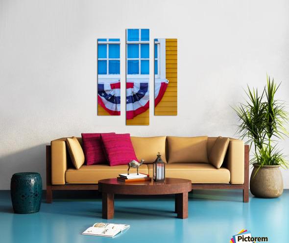 Patriotic Colonial Canvas print