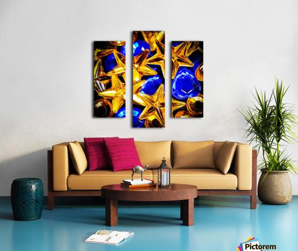 Blue and Gold Plastic Jewels Canvas print