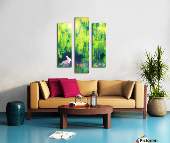 Bunny beneath the Willow Tree Canvas print