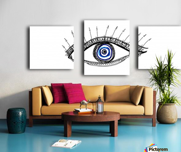 The Eye 20X8 Canvas print