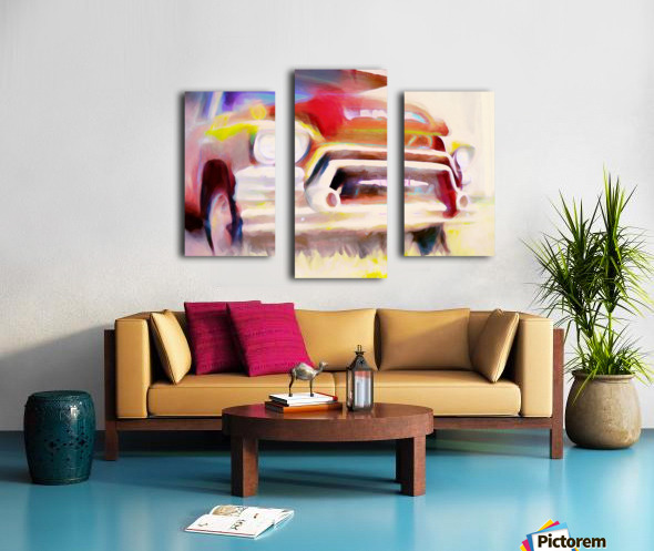 The Moving Van Moves No More Canvas print