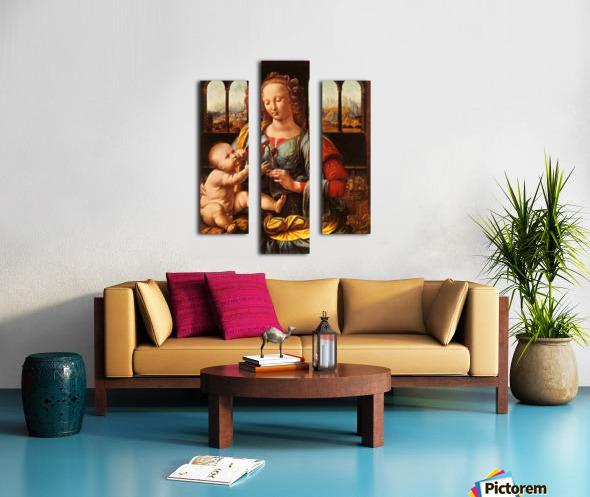 Leonardo da Vinci. The Madonna of the Carnation HD 300ppi Canvas print