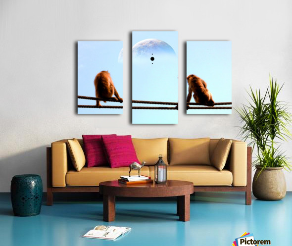 blue moon keys Canvas print