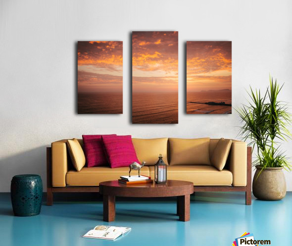 Lima Sunset Canvas print