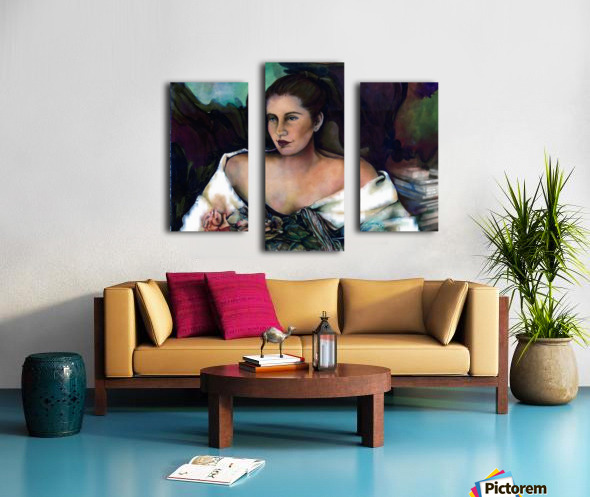 Spanish Lady With A Rose Canvas print