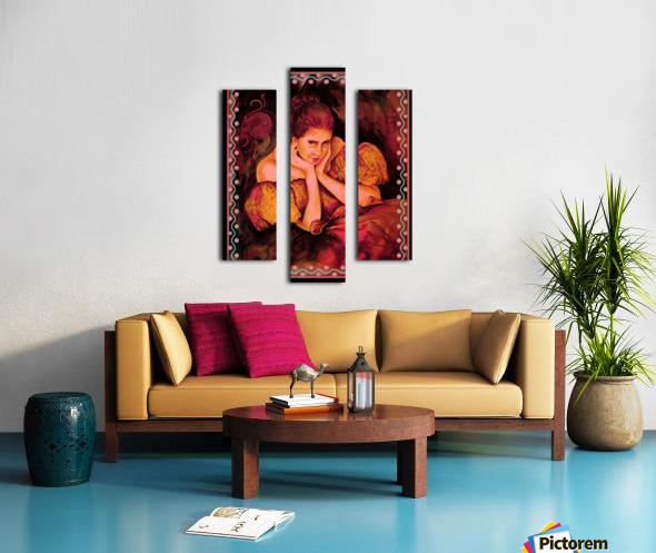 Flirty Girl  Canvas print