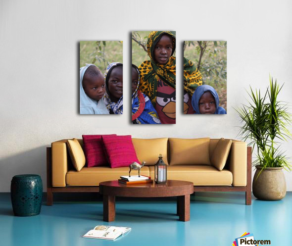 Faces of Africa Canvas print