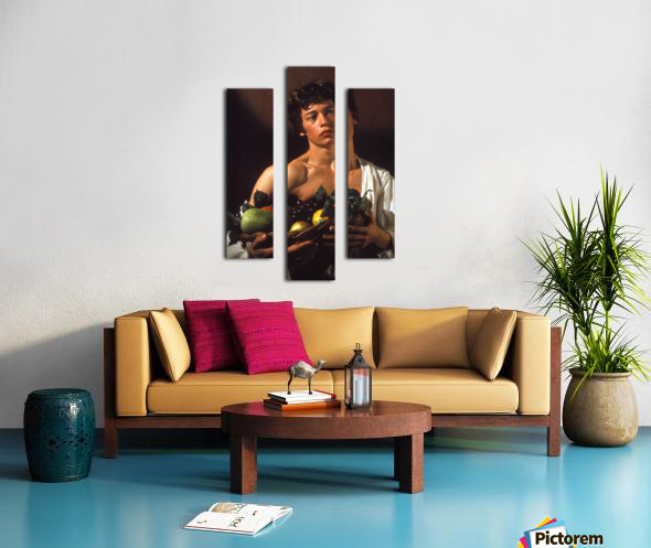 Man with fruits Canvas print