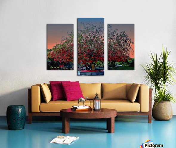 P36 - Red Red Tree Canvas print
