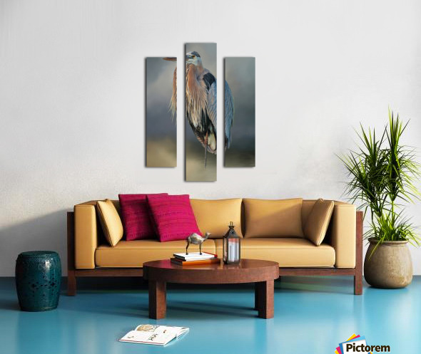 Great Blue Heron At Rest Canvas print