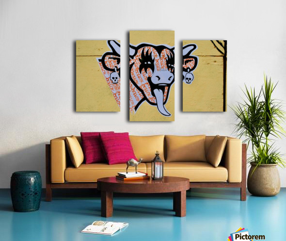 Demon Laughing Cow Canvas print