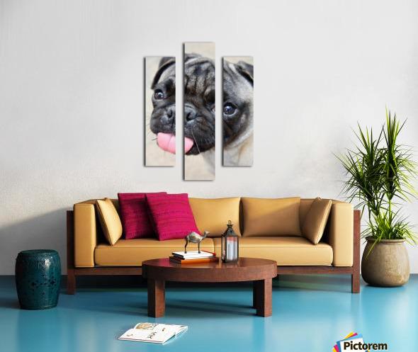 Pug Joker Canvas print