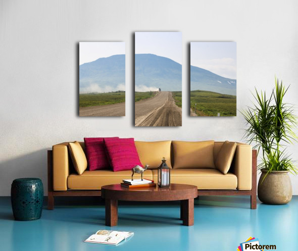 Truck on the Dempster Canvas print