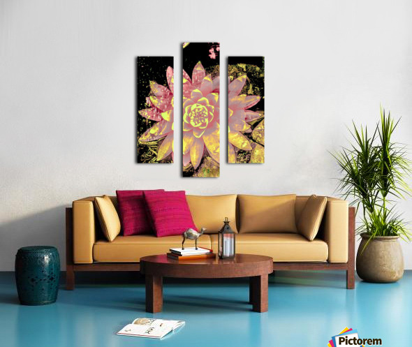 Pink fire lotus  Impression sur toile