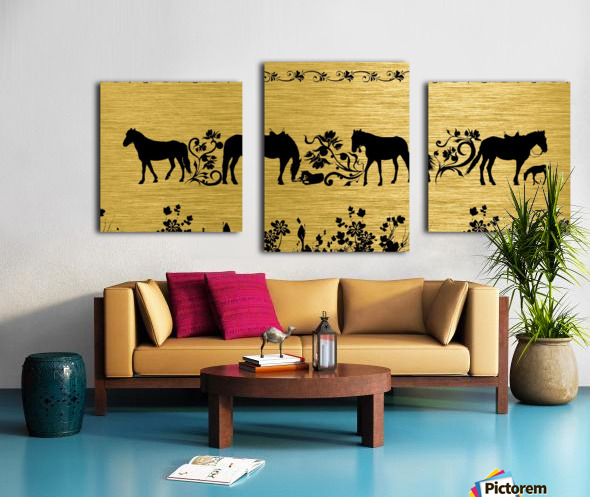 Gold illustration for interior decoration 2 Canvas print