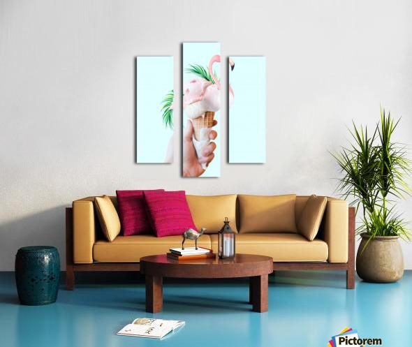 Tropical Ice Cream Canvas print