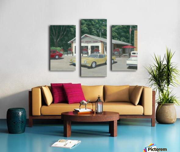The Ice Cream Shop - Newtown Scenes  12 x 16  Canvas print