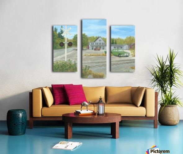 Hawleyville Scene - Newtown Scenes 16X20 Canvas print