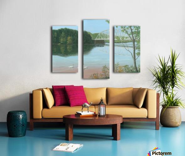 Silver Bridge - Newtown Scenes 18X24 Canvas print