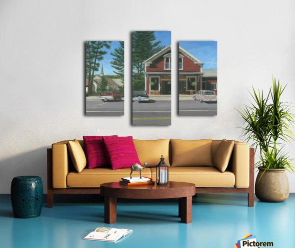 Church House and Store - Newtown Scenes 16X20 Canvas print