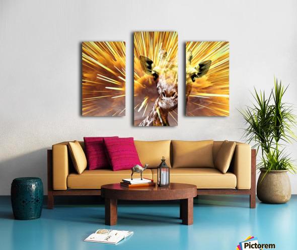 Giraffe pop 7  Canvas print
