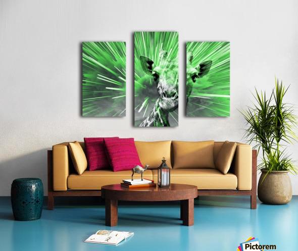 Giraffe pop 4   Canvas print