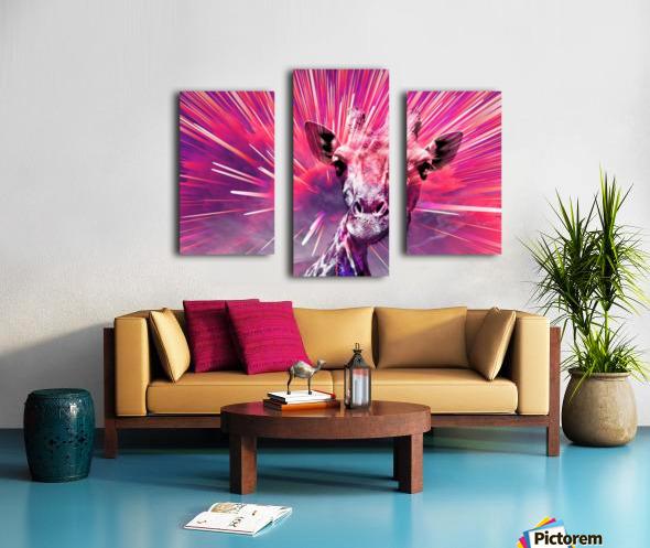 Giraffe pop 5 Canvas print