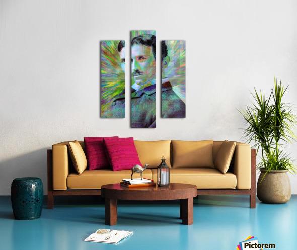 Electric Tesla Canvas print